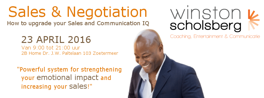 Sales and negotiation 23 april 2016